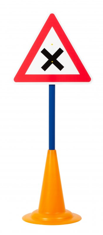 40052 SET 12 TRAFFIC SIGNS WITH CONE BASE 40052 (1)