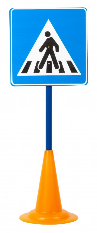 40052 SET 12 TRAFFIC SIGNS WITH CONE BASE 40052 (11)