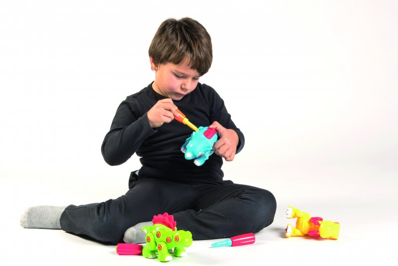 40300 SET 3 BUILDING DINOSAURUS + 3 DRILLS