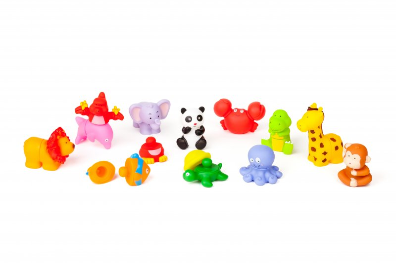 40456 RUBBER BLOCK ANIMALS 12 PIECES