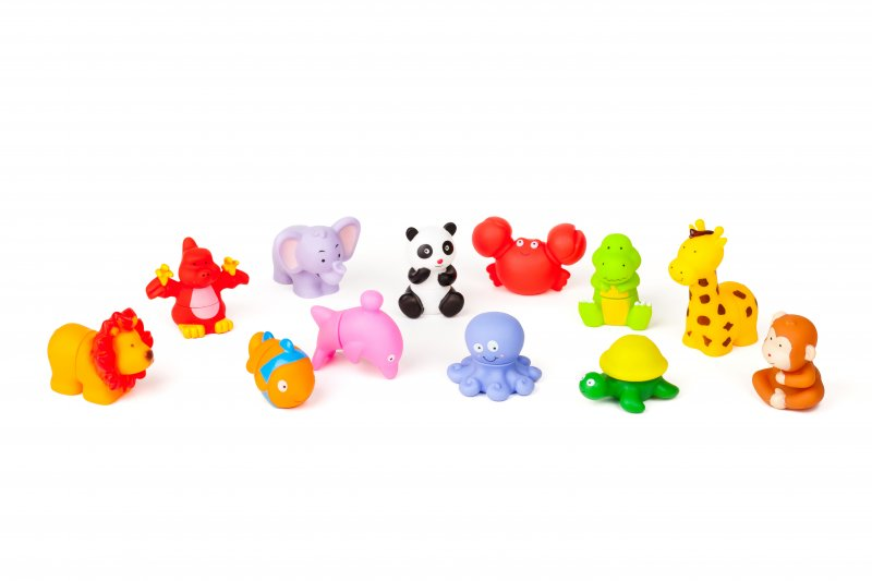 40456 RUBBER BLOCK ANIMALS 12 PIECES 40456