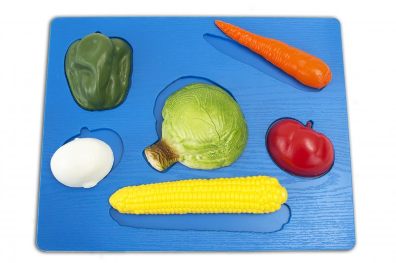 53196 3D PUZZLE VEGETABLES WITH PLASTIC BASE